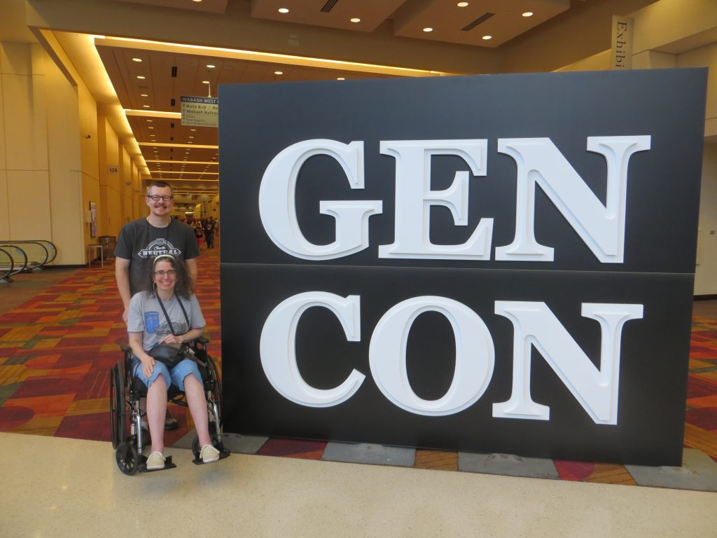 Angie and I with Wheelchair at Gen Con 2019